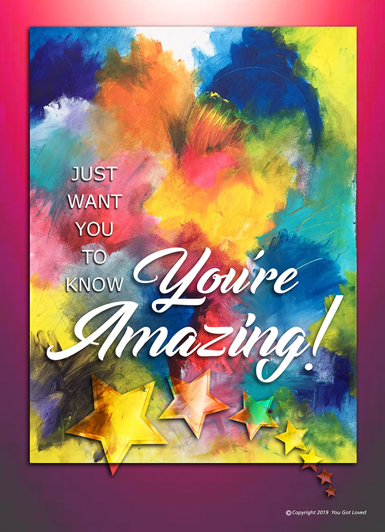 Re amazing you When A